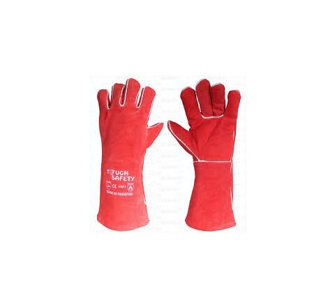 Welding Hand Gloves Red Piping