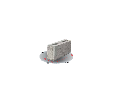 "Hollow Block 4"" (200 X 100 X 400)"