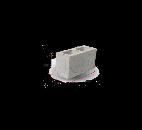 """Light Weight Hollow Block 6"""" (200 X 150 X 400)"""