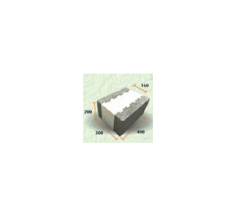 """Thermal Insulated Block 12""""( 200 X 300 X 400)"""