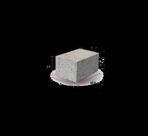 "Solid Block 10"" (200 X 250 X 400)"