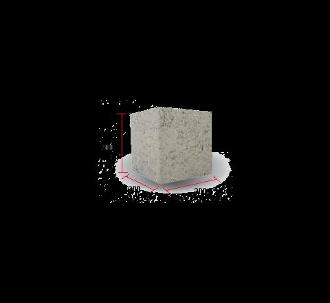"Solid Block 8(1/2)"" (200 X 200 X 200)"