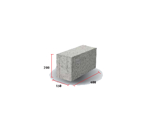 "Solid Block 6""( 200 X 150 X 400)"