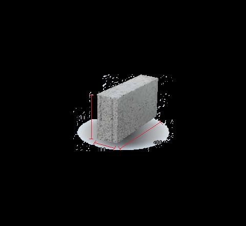 "Solid Block 4""( 200 X 100 X 400)"